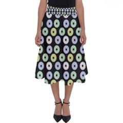 Eye Dots Grey Pastel Perfect Length Midi Skirt