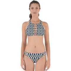 Eye Dots Grey Pastel Perfectly Cut Out Bikini Set