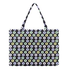 Eye Dots Grey Pastel Medium Tote Bag