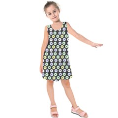 Eye Dots Grey Pastel Kids  Sleeveless Dress