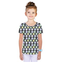 Eye Dots Grey Pastel Kids  One Piece Tee