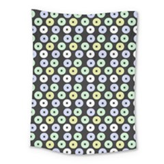 Eye Dots Grey Pastel Medium Tapestry