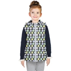 Eye Dots Grey Pastel Kid s Hooded Puffer Vest