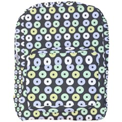Eye Dots Grey Pastel Full Print Backpack