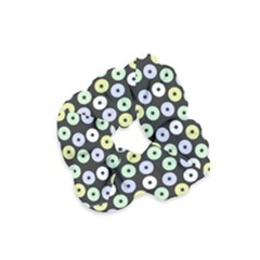 Eye Dots Grey Pastel Velvet Scrunchie