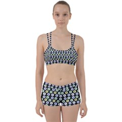 Eye Dots Grey Pastel Women s Sports Set