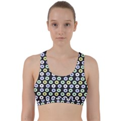 Eye Dots Grey Pastel Back Weave Sports Bra