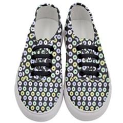 Eye Dots Grey Pastel Women s Classic Low Top Sneakers