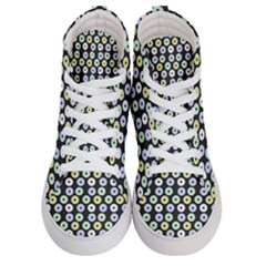 Eye Dots Grey Pastel Women s Hi Top Skate Sneakers