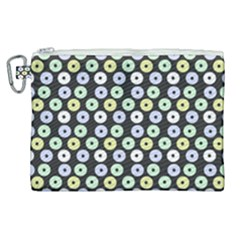 Eye Dots Grey Pastel Canvas Cosmetic Bag (xl)