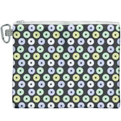 Eye Dots Grey Pastel Canvas Cosmetic Bag (xxxl)