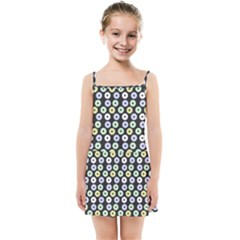 Eye Dots Grey Pastel Kids Summer Sun Dress