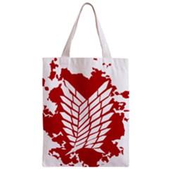 Attack On Titan Zipper Classic Tote Bag