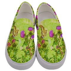Butterflies Men s Canvas Slip Ons