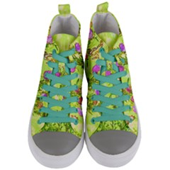 Butterflies Women s Mid Top Canvas Sneakers