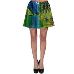 Beautiful Nature Lake Skater Skirt