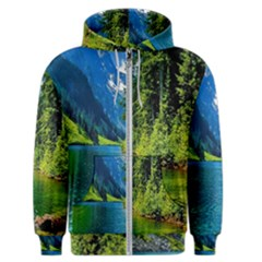 Beautiful Nature Lake Men s Zipper Hoodie
