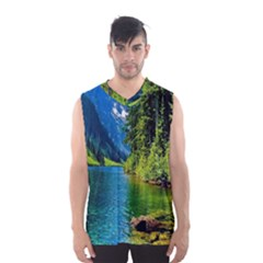Beautiful Nature Lake Men s Basketball Tank Top