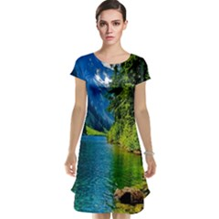Beautiful Nature Lake Cap Sleeve Nightdress
