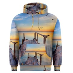 Sunset Lake Beautiful Nature Men s Pullover Hoodie