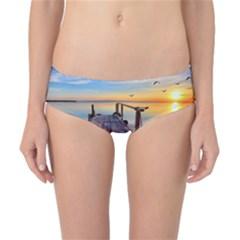 Sunset Lake Beautiful Nature Classic Bikini Bottoms