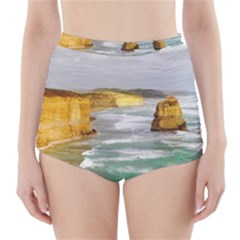 Coastal Landscape High Waisted Bikini Bottoms