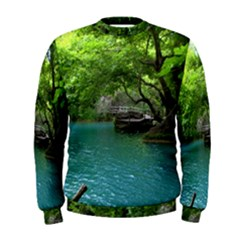 Backgrounds List Of Lake Background Beautiful Waterfalls Nature Men s Sweatshirt