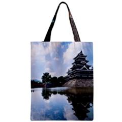 Beautiful Pagoda On Lake Nature Wallpaper Classic Tote Bag