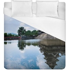 Beautiful Pagoda On Lake Nature Wallpaper Duvet Cover (king Size) by Modern2018