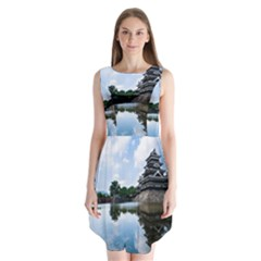 Beautiful Pagoda On Lake Nature Wallpaper Sleeveless Chiffon Dress