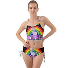 Go To Hell   Unicorn Mini Tank Bikini Set by Valentinaart