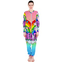 Go To Hell   Unicorn Onepiece Jumpsuit (ladies)