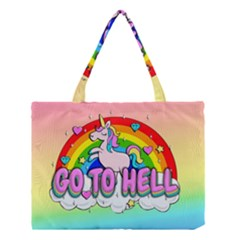 Go To Hell   Unicorn Medium Tote Bag