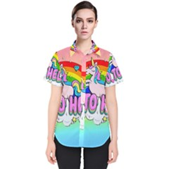 Go To Hell   Unicorn Women s Short Sleeve Shirt