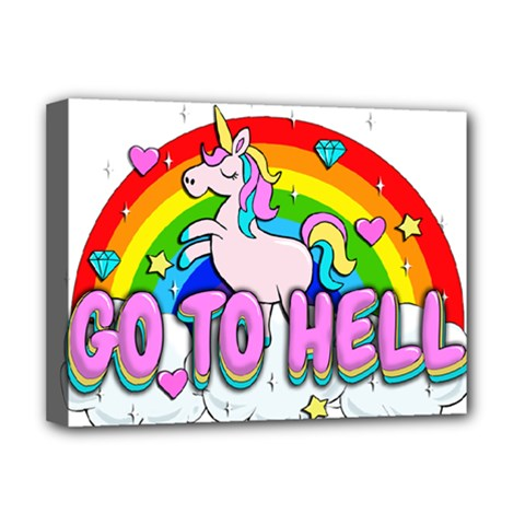 Go To Hell   Unicorn Deluxe Canvas 16  X 12