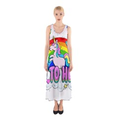 Go To Hell   Unicorn Sleeveless Maxi Dress