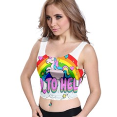 Go To Hell   Unicorn Crop Top