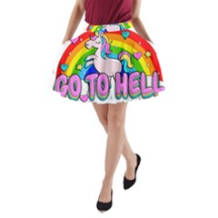 Go To Hell   Unicorn A Line Pocket Skirt by Valentinaart