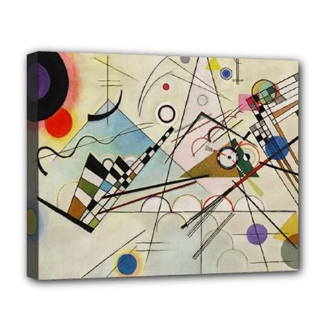Composition 8   Vasily Kandinsky Deluxe Canvas 20  X 16