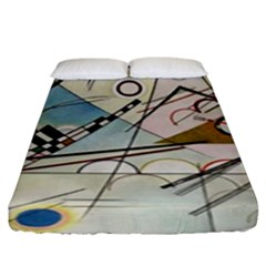 Composition 8   Vasily Kandinsky Fitted Sheet (king Size) by Valentinaart
