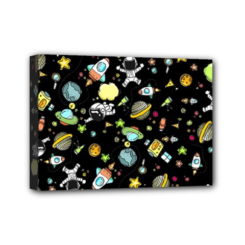 Space Pattern Mini Canvas 7  X 5