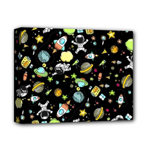 Space Pattern Deluxe Canvas 14  X 11  by Valentinaart