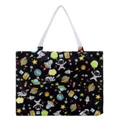 Space Pattern Medium Tote Bag by Valentinaart