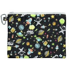 Space Pattern Canvas Cosmetic Bag (xxl) by Valentinaart