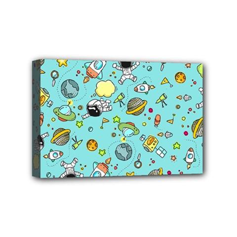 Space Pattern Mini Canvas 6  X 4