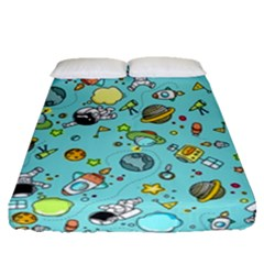 Space Pattern Fitted Sheet (queen Size)