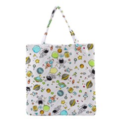 Space Pattern Grocery Tote Bag by Valentinaart