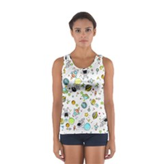 Space Pattern Sport Tank Top