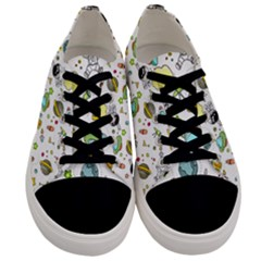Space Pattern Men s Low Top Canvas Sneakers