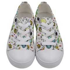 Space Pattern Kids  Low Top Canvas Sneakers